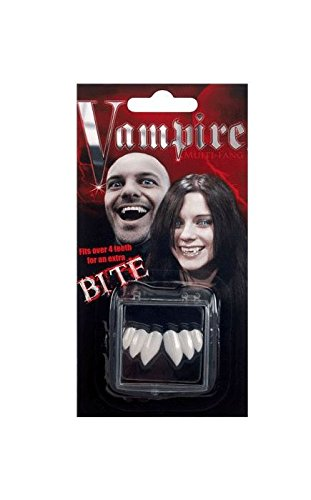 Costumes Fake Teeth (Billy Bob Vampire Bite Fangs Faux Fake Teeth Multi-fang Bite Halloween Costume)