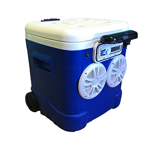 60qt Ice Chest CoolerラジオBluetoothステレオ360ワットスピーカー240ワットAmp B078RK9MNZ