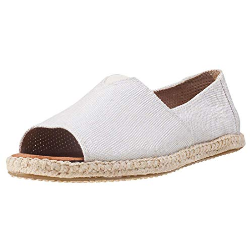 TOMS Women's Alpargata Open Toe Natural Yarn-Dye 8.5 B US B