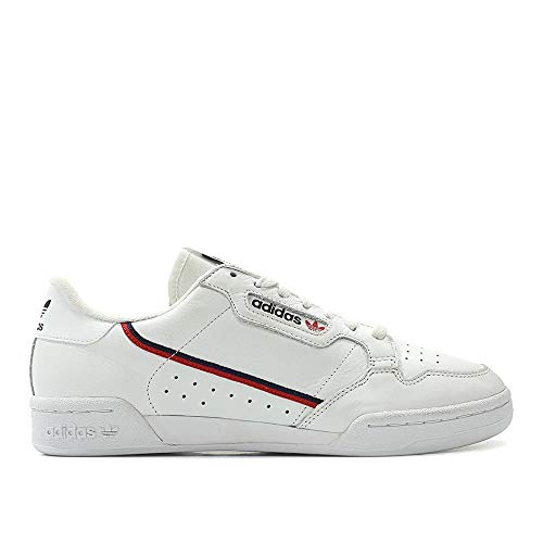 competitive price 79e42 33f10 adidas Men Continental 80 Rascal White Scarlet Collegiate Navy Size 4.5 US