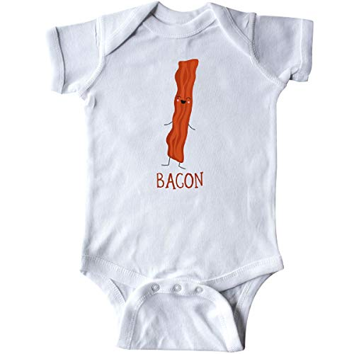(inktastic - Bacon Costume Infant Creeper Newborn White)