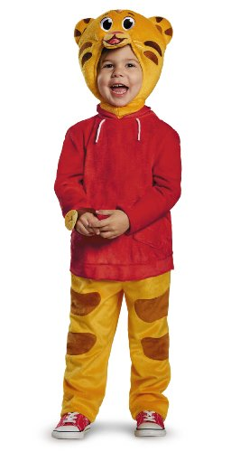 Cartoon Based Halloween Costumes (Daniel Tiger's Neighborhood Daniel Tiger Deluxe Toddler Costume, Medium/3T-4T)
