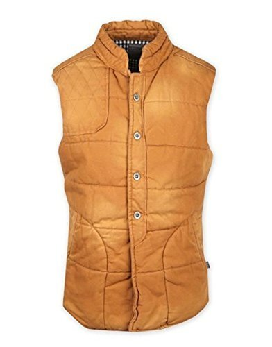 Mish Mash - Chaleco - chaqueta guateada - para hombre marrón Comino Small: Amazon.es: Ropa y accesorios