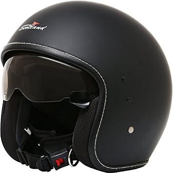 Rodeo Drive - Casco para moto, negro mate, de estilo bandido, talla L