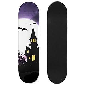 Halloween Maple Wood Double Kick Cruiser Skateboard