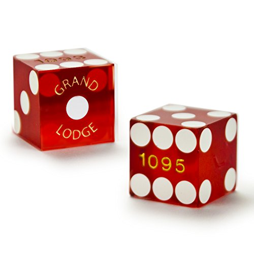 Cancelled Casino - Pair of Authentic Grand Lodge Casino Cancelled Craps Dice - Actually Used in Casino!