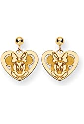 Disney's Minnie Mouse Heart Post Earrings in 14 Karat Gold