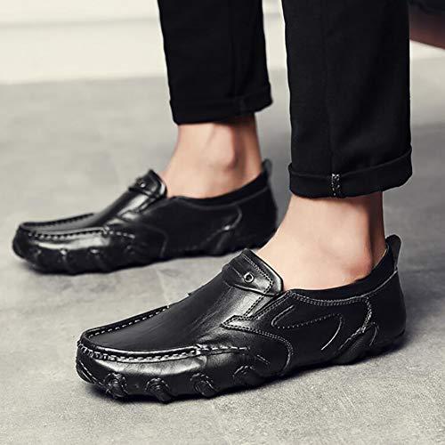 Resbalones Hombres Para Moda Mocasines Planos De Yuann Black Y Casuales pgBvw6