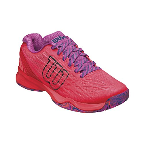 Wilson Wrs323420e050, Chaussures de Tennis Femme, Orange (Fiery Coral / Fiery Red / Rose Violet), 38 2/3 EU