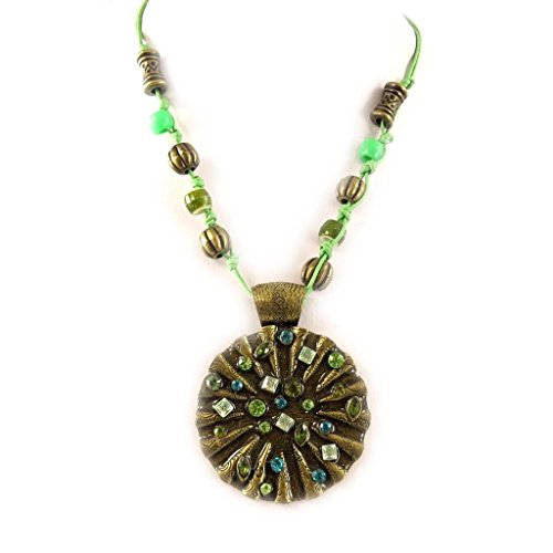 Necklace 'french touch' 'Athena' green / turquoise. - Athena Costume Pattern