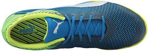 Puma Mens evoSPEED Star Ignite Soccer Shoe Electric Blue Lemonade