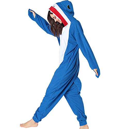 HKSNG Sharky Shark Animal Pajamas Kigurumi Onesies Cosplay Costumes