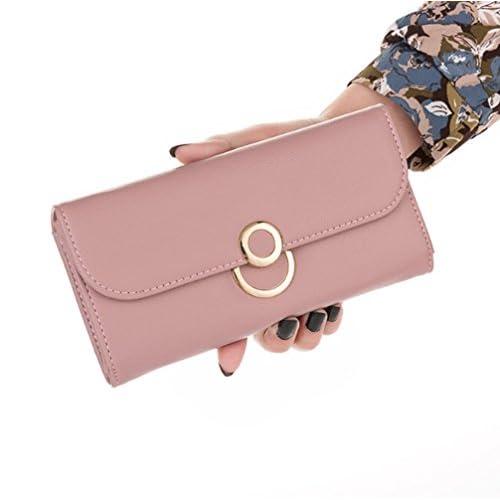 de624f6d2575a0 30%OFF Swallowuk Damen Mode Portemonnaie Große Geldbörse Elegant Lange  Geldbeutel Rosa DpPsuK0T
