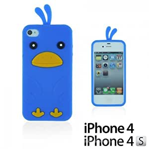 OnlineBestDigital - Brick Style Soft Silicone Case For Ipod Touch 4 Cover - Blue with 3 Screen Protectors