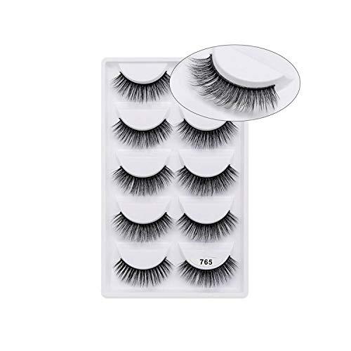 5 pairs 3D Mink Eyelashes Natural False Eyelashes 13style Lashes Soft Fake Eyelashes Extension Makeup Kit Cilios,765]()