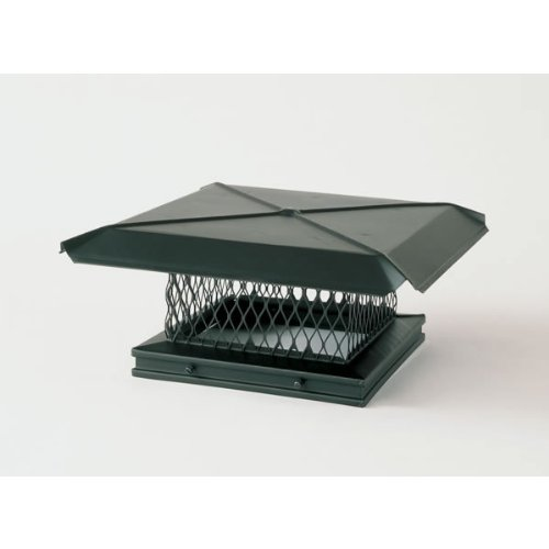 100287 8x17 Galvanized Gelco Chimney Cover Gelco Black Galvanized Cap