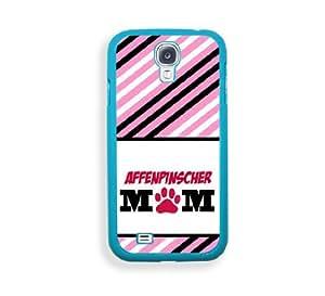 Affenpinscher Mom Aqua Plastic Bumper Samsung Galaxy S4 I9500 Case - Fits Samsung Galaxy S4 I9500