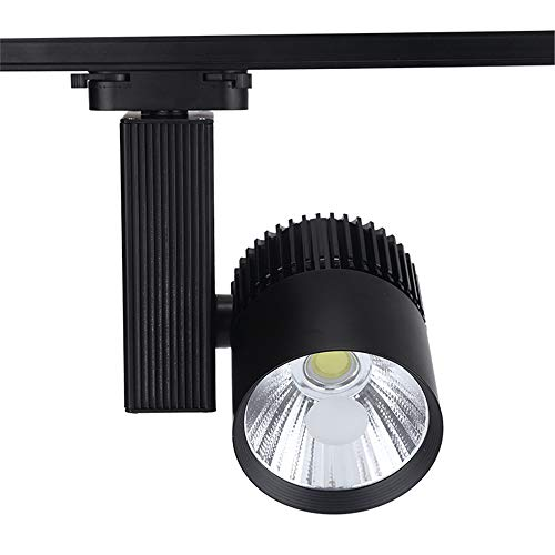 30W 4 wire COB LED Track light AC110-240V Track Lighting LED Spot Wall Lamp Rail Spotlights Backdrop Lighting Indoor Bar Clothes Shop Indoor Track Lighting,Black,20W~Warmwhite