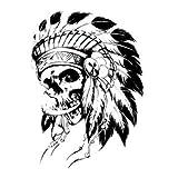 Temporary Tattoos - 1pcs Temporary Waterproof Halloween Feather Horror Scary Crossbones Tattoo Sticker Skull Body Art - Plumage Label