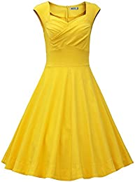 Amazon.com: Yellow - Dresses / Clothing: Clothing- Shoes &amp- Jewelry