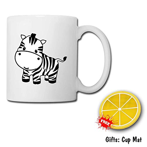 - Coffee Mugs and Mark Cup are Lovely, Perfect for Drinking Hot Drinks at Work, Customized and Cup Mat Zebra Baby