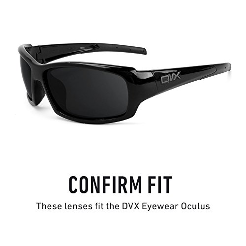 — No para Lentes Revant repuesto Negro múltiples Opciones Sigiloso Oculus Eyewear de Polarizados DVX Bw60Tq76