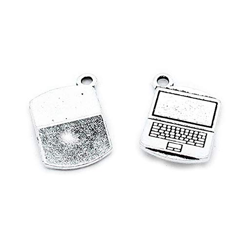 550 Notebook - 550 Pieces Antique Silver Tone Jewelry Charms Findings Supplier Crafting Craft Making E6WN5A Notebook Laptop