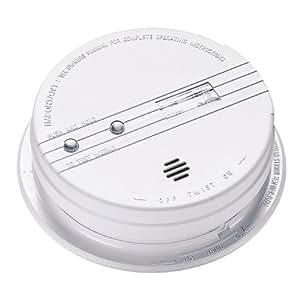 Kidde i9080 Smoke Detector, 9V Battery Powered Ionization w/Safety Light (0918E)