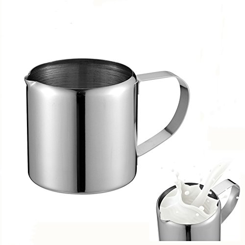 Stainless Steel Milk Frothing Pitcher - Garland Cup For Tea Coffee And Latte Art (10 Oz) by NPYPQ
