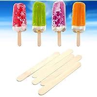 WellieSTR 500Pcs/Lot 150x18x1.6mm Ice Cream Sticks Natural Wooden Popsicle Stick Kids DIY Hand Crafts Art Ice Cream Lolly Cake Tools
