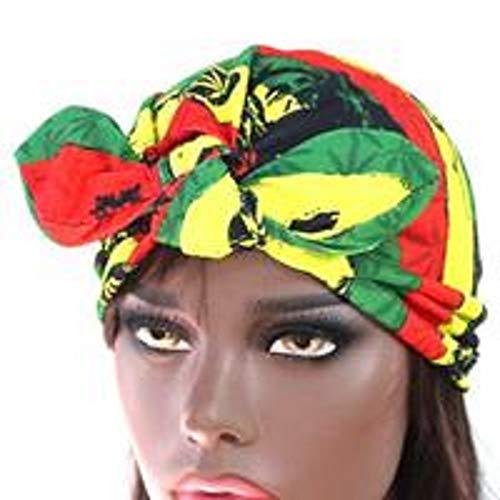 Hats Rasta Jamaican - Stretchy Rasta Turban Hat #1 for Chemo Bandana Head wrap Jihab Cancer Hat