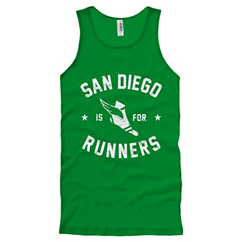 Smash Transit Men's San Diego is for Runners Tank Top - Kelly Green, X-Large
