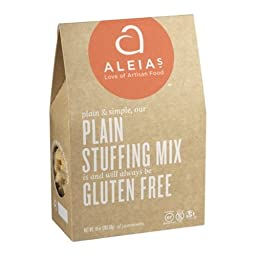 Aleia\'s Gluten Free Foods Stufing Mix, Plain, Gf, 10-Ounce (Pack of 3)