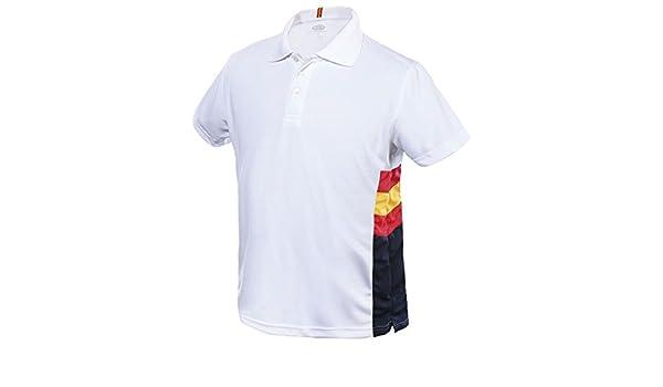 Dry & Fresh Polo Técnico De Caballero, Blanco con La Bandera De ...