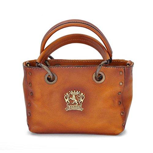 Pratesi Womens Italian Leather Bagnone Lady Bag in Cow Leather in Cognac