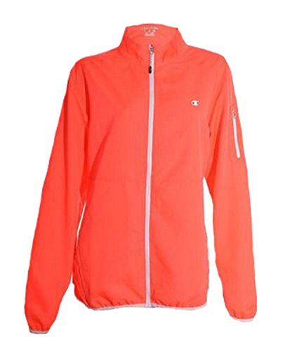 (Champion Womens Lightweight Athletic Jacket (Bright Flame, X-Large))
