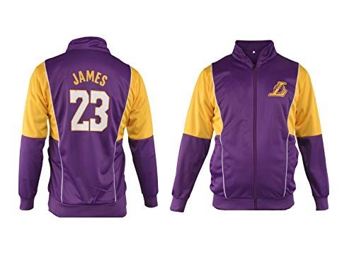James LA Basketball Lebron Tracksuit Youth Sizes Premium Quality Los Angeles Track Jacket with Pants (YXL 12-14 Years, Jacket Only)