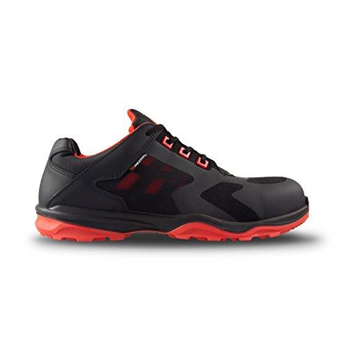 Heckel Zapatos bajos de seguridad RUN-R Edición ACE S1P libre de metal, extremadamente ligera, diferentes tallas blanco / rojo