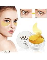 30 Pairs of New 24K Gold Crystal Collagen Eye Mask, Eye Mask Anti Aging, Anti Wrinkle, Puffy Eyes, Remove Bags & Dark Circles Under Eye
