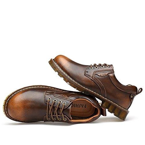 Dimensione con 38 Nero e Scarpe 2018 Brass Jiuyue scarpe shoes stringate in Color uomo EU lacci pelle Uomo oxford Scarpe Pelle da sintetica stringate basse F1nqA