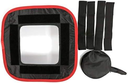 TAOHOU Tapa Blanda LED Fotografía Luz de Relleno Caja Suave Nido de Abeja Rojo Negro Tapa Lateral Negro y Rojo: Amazon.es