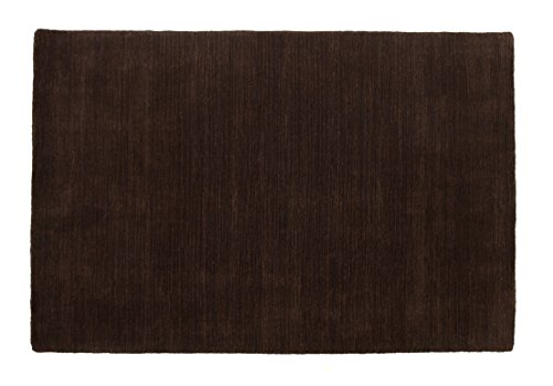 (Kingsford - Contemporary Solid Color Wool Area Rug - 4 x 6 feet - Chocolate - Hand Tufted - Luxuriously Thick 100% Wool Pile - Thick Cotton Back - May vary slightly in color from the image shown)
