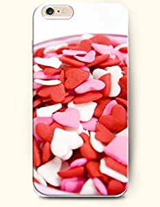 iPhone 6 Plus Case 5.5 Inches Pink Love and Candy - Hard Back Plastic Case OOFIT Authentic