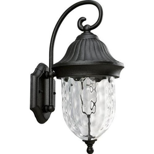 Progress Lighting P5828-31 1-Light Wall Lantern 100 Watt 120 Volt Textured Black Powder Coated (Coventry Outdoor Lantern)