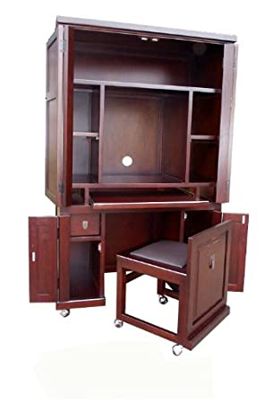 D ART COLLECTION Computer Armoire With Pull Out Seat