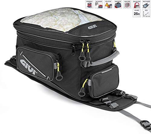 (Givi EA110B 25 Liter Tank bag for Adventure/Enduro Bikes, Black)