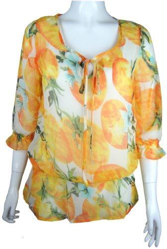 Traje de neopreno para mujer para tomates blusa de diseño de patrón de tela de chifón de en la parte superior y nuevo fertilizante tamaño de la funda de ...