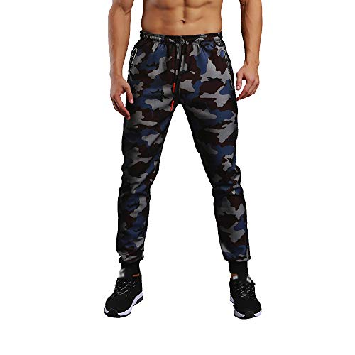 Cool980s Men Camouflage Pocket Overalls Casual Pocket Sport Work Casual Trouser Pants