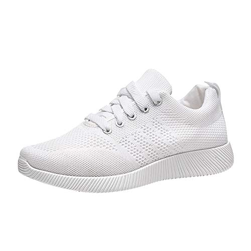 - HYIRI New Classic Woven Casual Shoes,Women's Shoes Flying Candy Color Student Running Shoes White