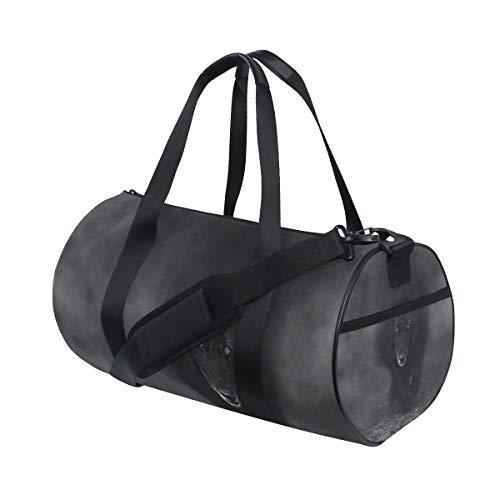 Sport Gym Bag Belgian Sheepdog Walking Through Mist Duffel Bag for Men and Women Travel